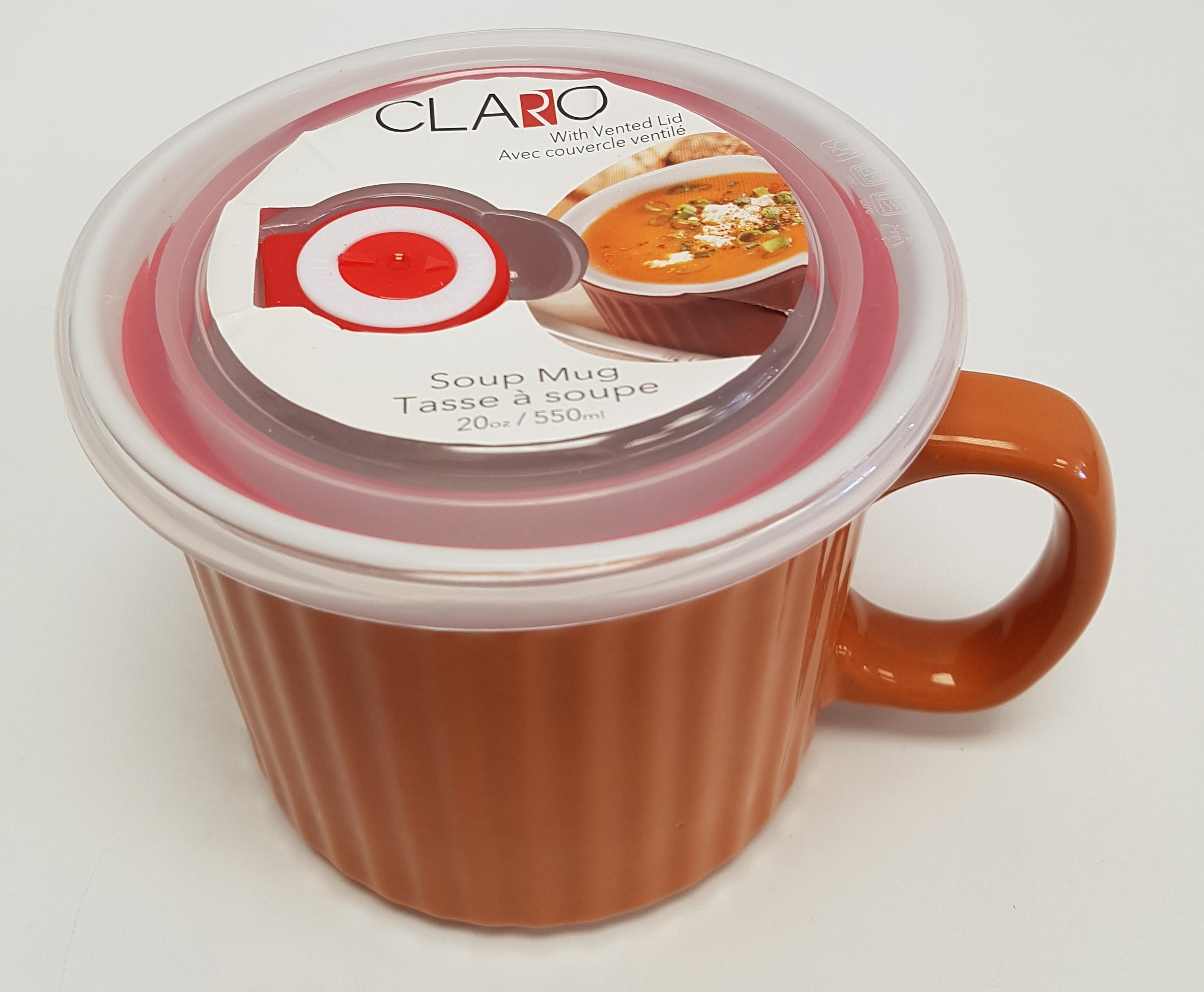 Soup Mug with lid 4 col